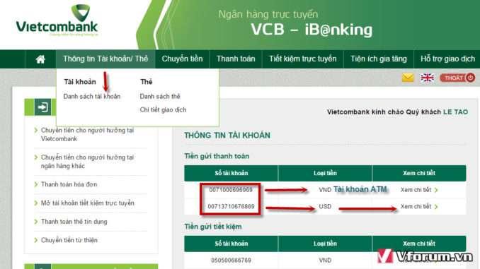 Trường hợp mất thông tin thì cách nào để biết số tài khoản Vietcombank ghi ở đâu?