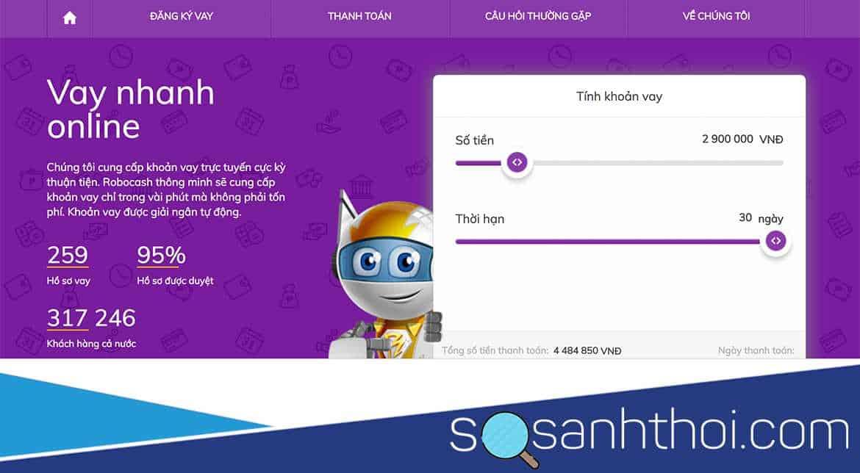 Chi tiết vay tiền mặt online Robocash từ a đến z