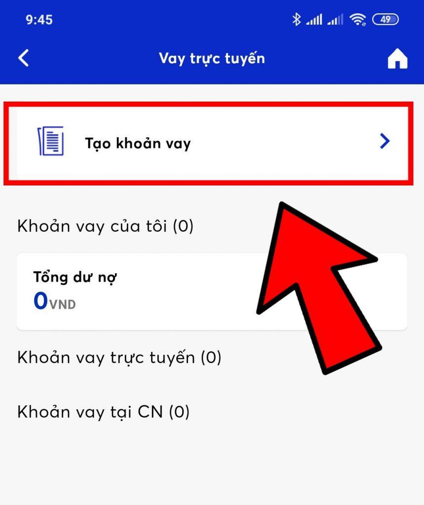 đăng ký vay nhanh app mbbank