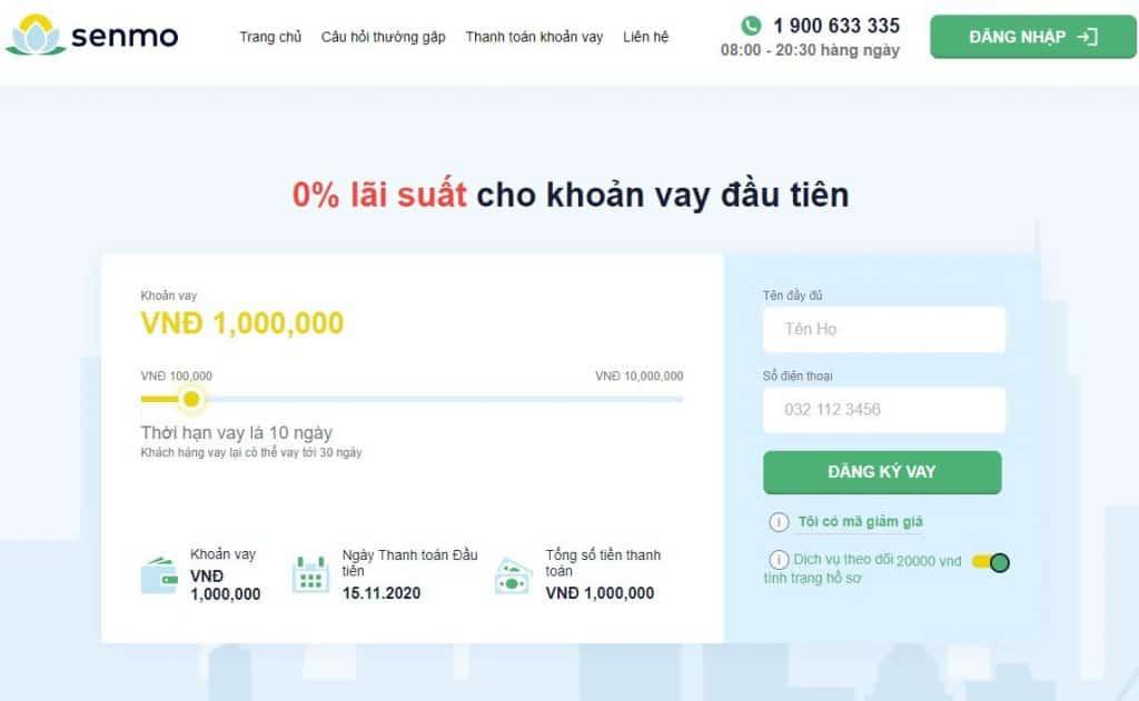 Ứng dụng vay tiền online 24/7 Senmo.