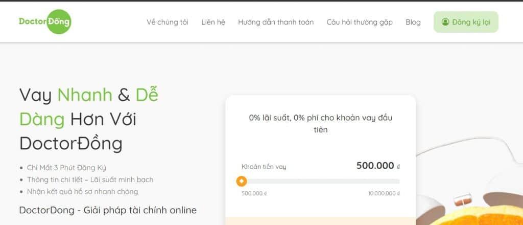 Vay tiền qua app uy tín mọi thời đại Doctor Đồng
